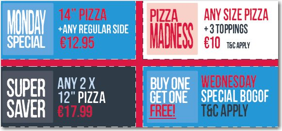 drogheda pizza specials