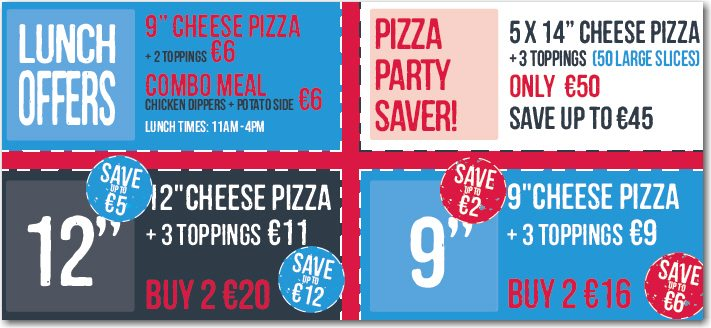 special offers for pizza in cork